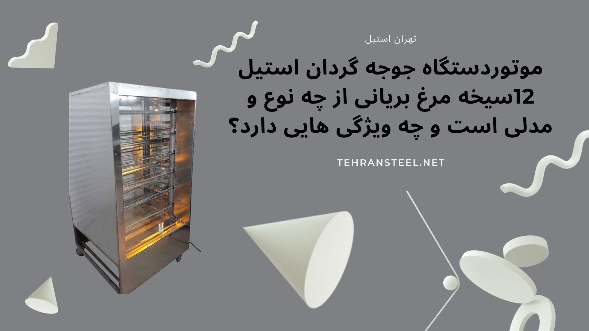 موتور دستگاه جوجه گردان استیل ۱۲ سیخه مرغ بریانی دستگاه از چه نوع و مدلی است، وچه ویژگی هایی دارد؟