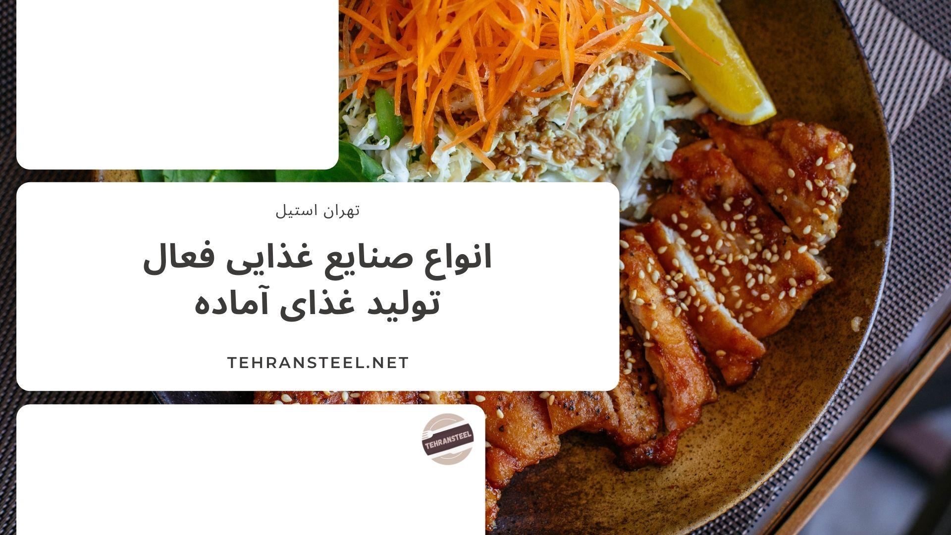 انواع صنایع غذایی فعال تولید غذای آماده