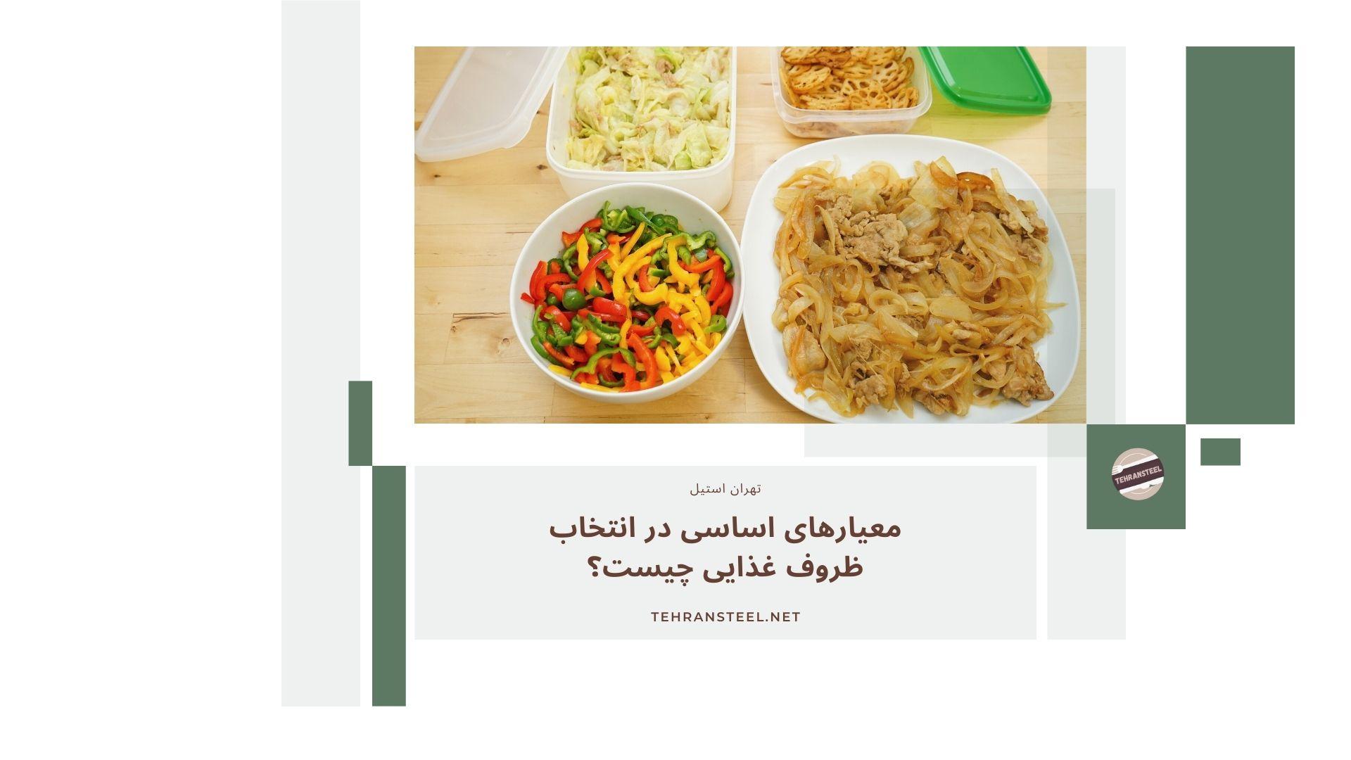 معیارهای اساسی در انتخاب ظروف غذایی چیست؟